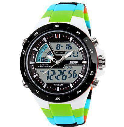 Round Analog Chronograph Sports Watch, Miulitary Watch - Dgitrends Watches Gadgets & Accessories