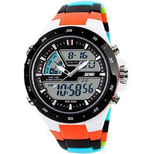 Round Analog Chronograph Sports Watch, Miulitary Watch - Dgitrends