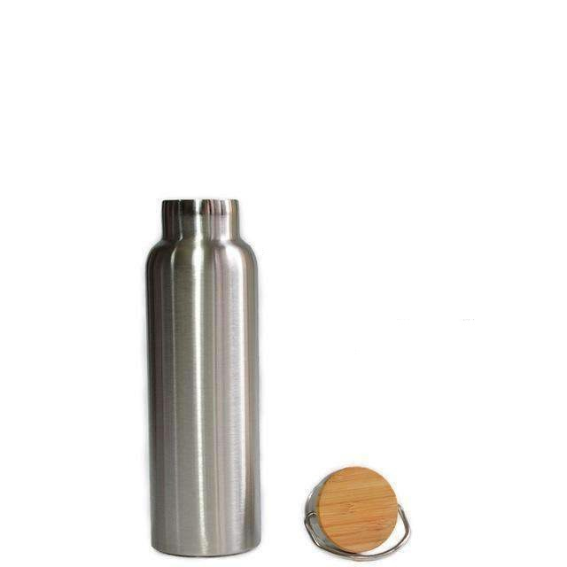 Insulated Mug with Bamboo Cap, Water Bottle - Dgitrends
