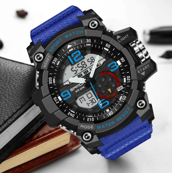 Waterproof Military Watch With Dual Displays, Waterproof Military Sport Watch > Waterproof > Digital > Military Sports Watch - Dgitrends