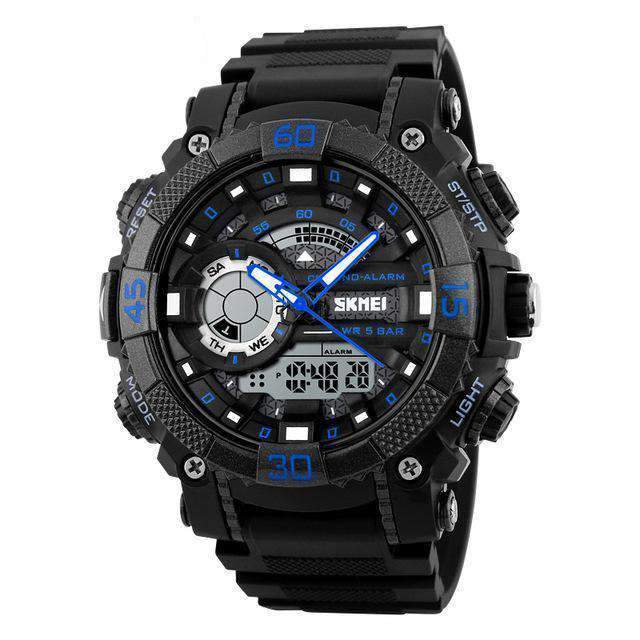Dual Time Military Sport Watch, Watches > Waterproof > Digital > Military Sports Watch - Dgitrends