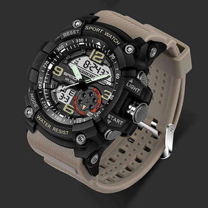 Waterproof Military Watch With Dual Displays, Waterproof Military Sport Watch > Waterproof > Digital > Military Sports Watch - Dgitrends Watches Gadgets & Accessories