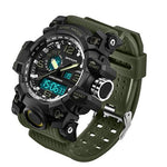 Men's Tactical Sports Watch, Waterproof Sports Watch With Digital And Analog Display > Waterproof > Digital > Military Sports Watch - Dgitrends