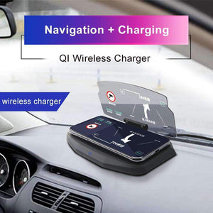 Wireless Charging Dock & Heads up Display Car HUD, Wireless Charging Dock & Heads up Display Car HUD > Doc Heads Up Display > Universal HUD > Car Phone Dock > Car Phone Dock Heads Up Display - Dgitrends