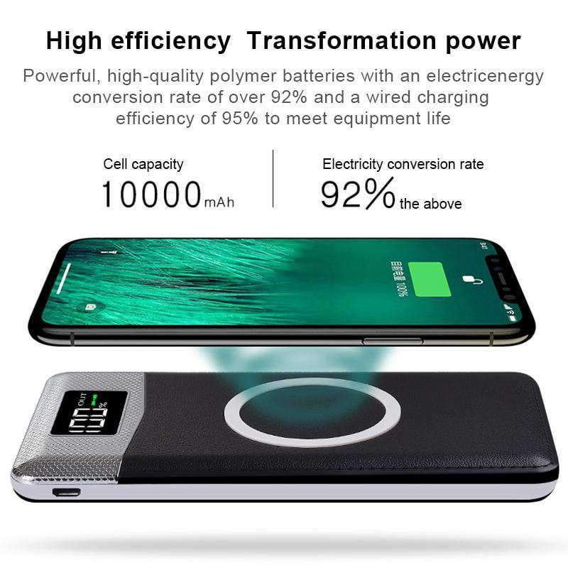 Dual Output Wireless Power Bank, Wireless Power Bank > Quick Charge Wireless Power Bank > Power Bank > Dual Port Power Bank > USB Power Bank > Portable Phone Charger > Universal Power Bank Charger - Dgitrends
