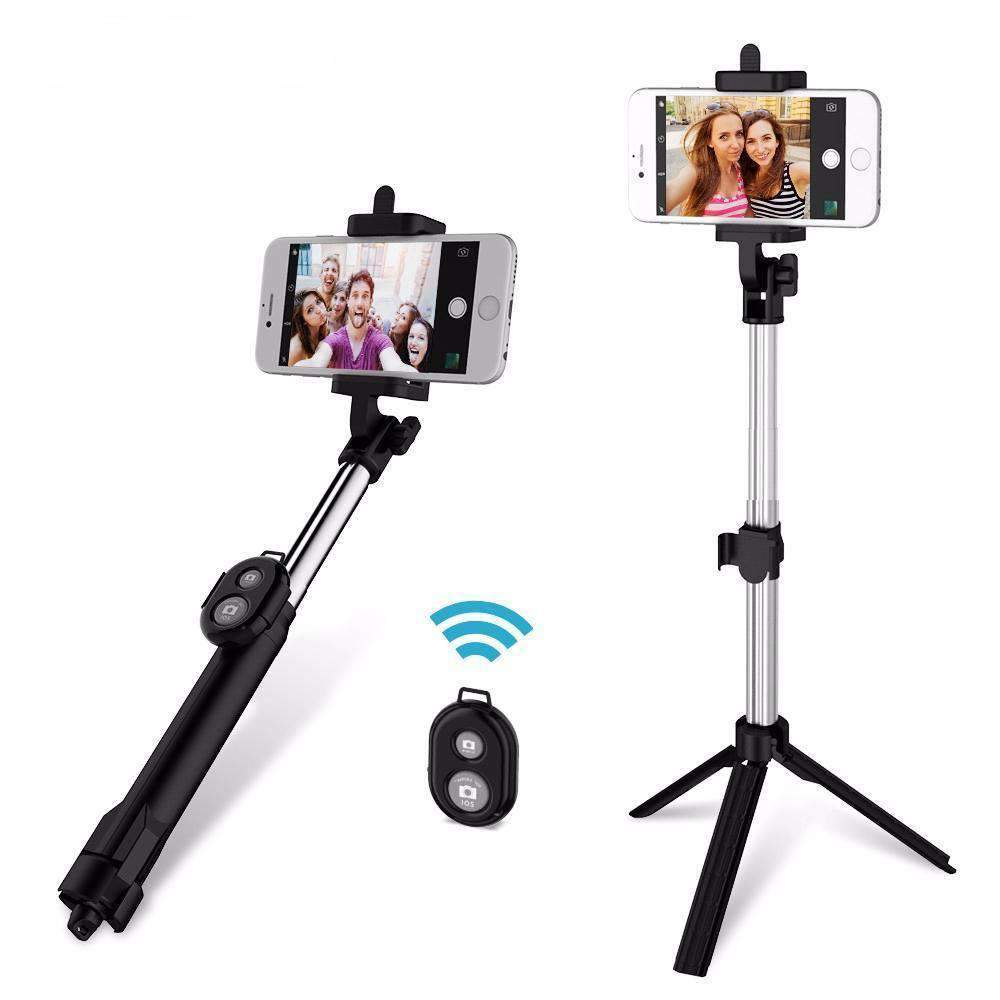 Bluetooth Selfie Stick With Tripod Base & Remote - Dgitrends