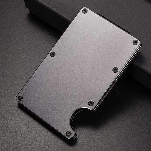 Aluminum RFID Anti Theft Wallet, Aluminum RFID Blocking Wallet - Dgitrends Watches Gadgets & Accessories