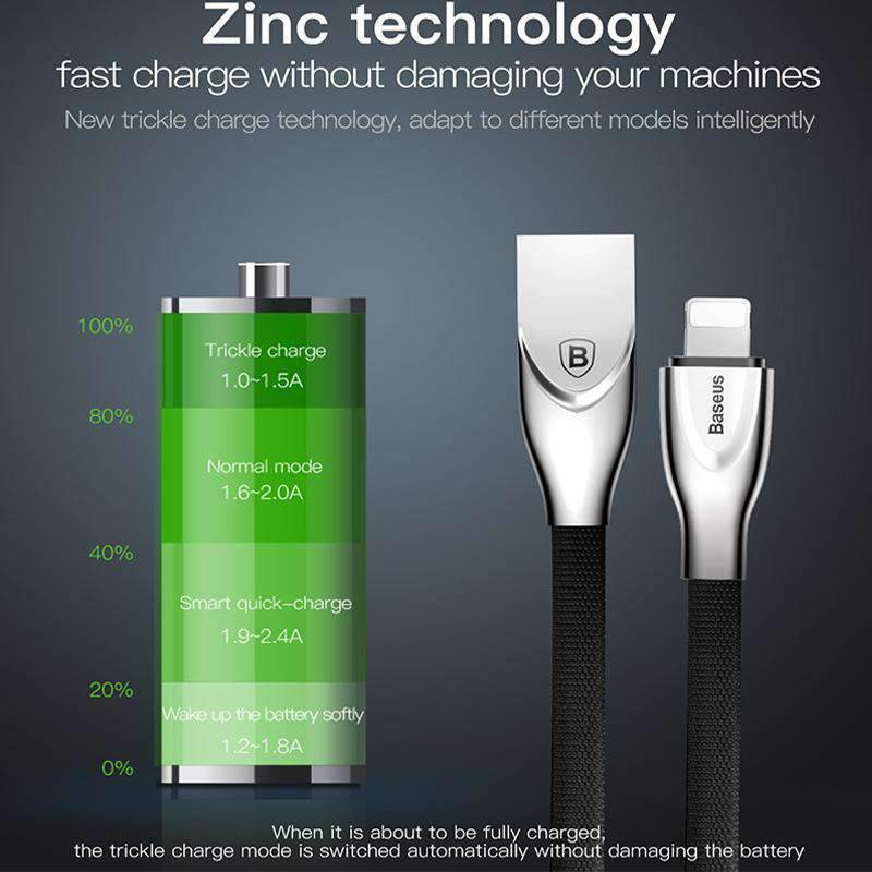 Rapid Charge Sync Zinc Alloy Data Cable, Data Cable - Dgitrends