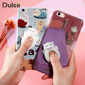Squishy Cat Cartoon iPhone Case, iPhone Case - Dgitrends