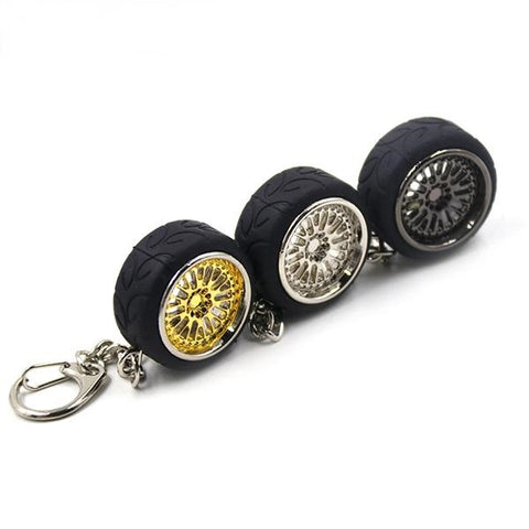 CCW Wheel keychain With Racing Tire Tyre