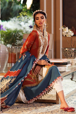 SANA SAFINAZ - MAHAY LAWN - CODE: 12B - 2PIECE - UNSTITCHED - GREY