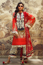 SANA SAFINAZ - MAHAY LAWN - CODE: 4B - 3PIECE - UNSTITCHED - RED