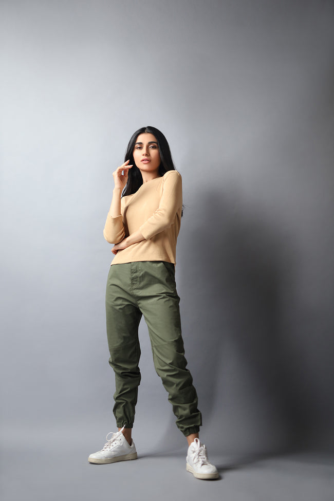 DRESS CODE - FITTED LEG CARGO PANTS