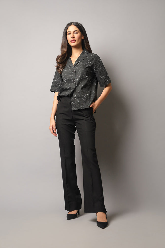 DRESS CODE - SIDE SLIT PANTS