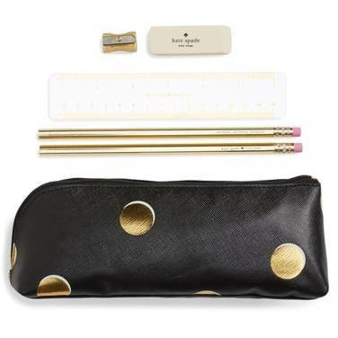 Kate Spade New York Pencil Case Scatter Dot Set,Pencil Case, Kate Spade New York - Yum Yum Store