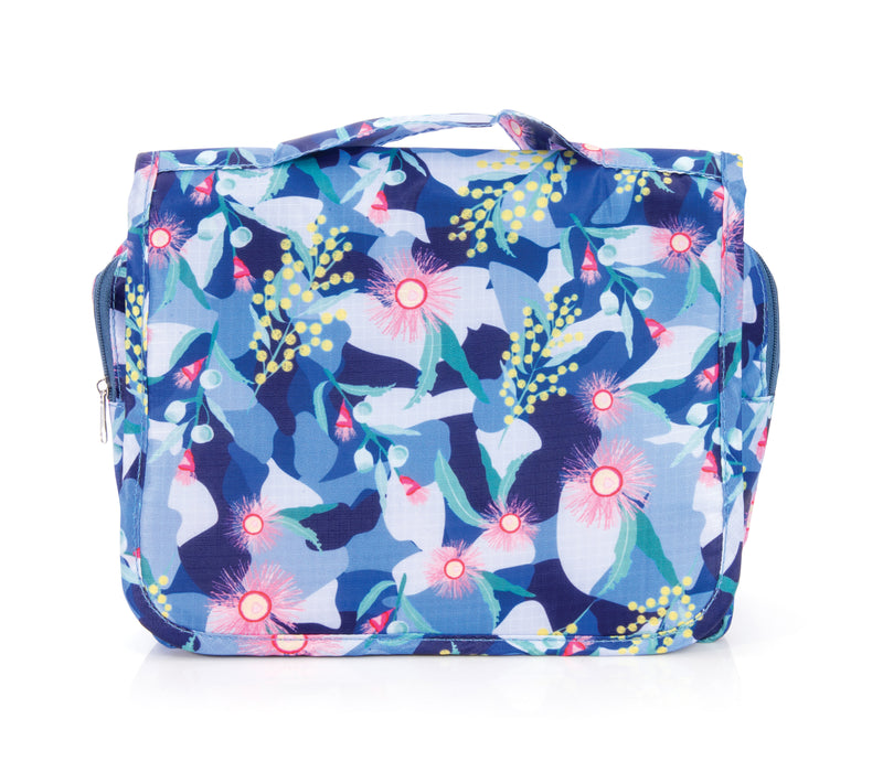 IS Gift Australian Collection Hanging Toiletry Bag Botanical Light Blue