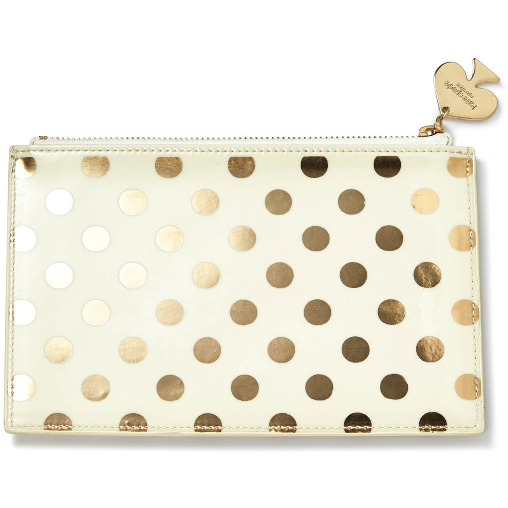 Kate Spade New York Gold Dot Pencil Pouch Set,Pencil Case, Kate Spade New York - Yum Yum Store
