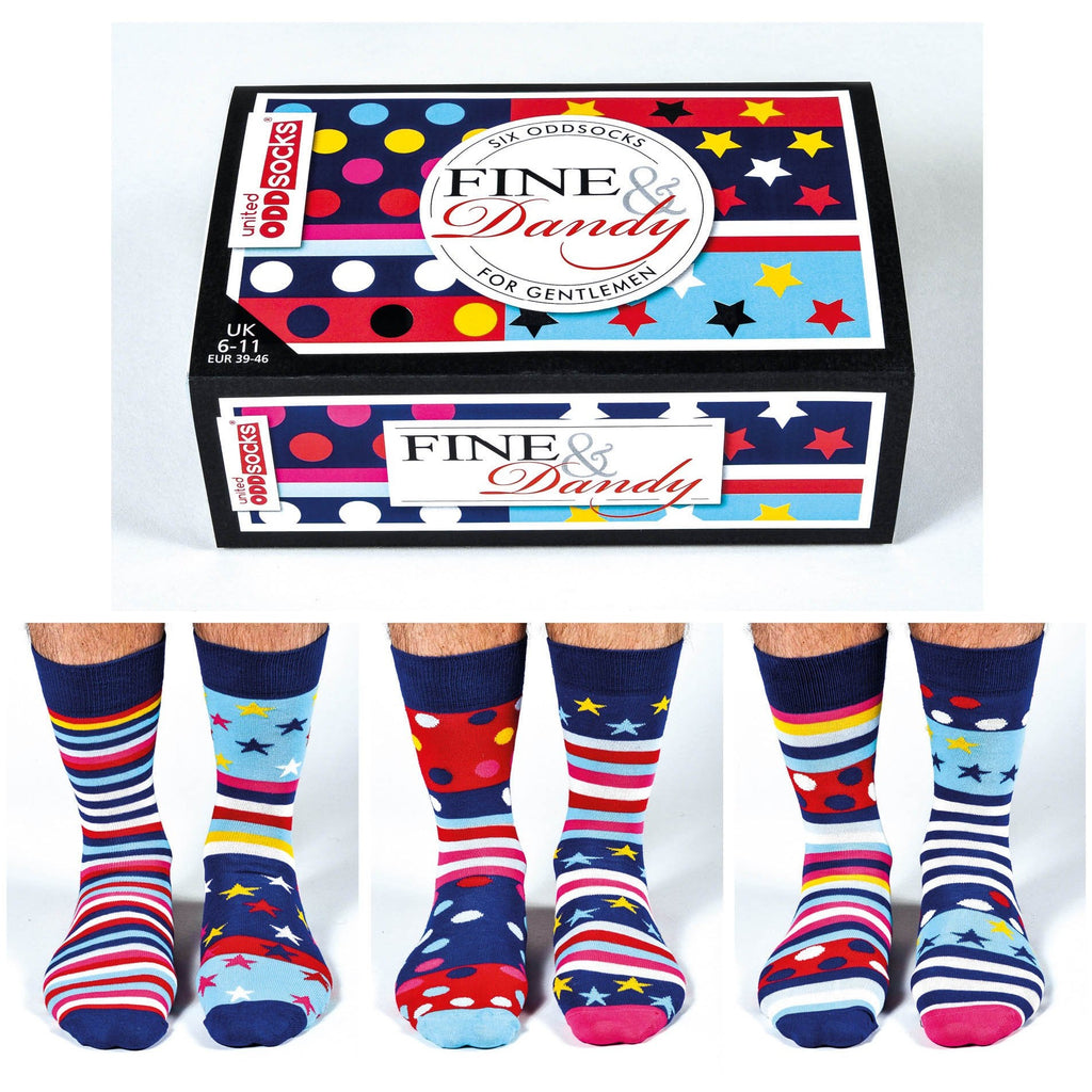 Odd Socks Mens- Fine and Dandy,Socks, United Odd Socks - Yum Yum Store