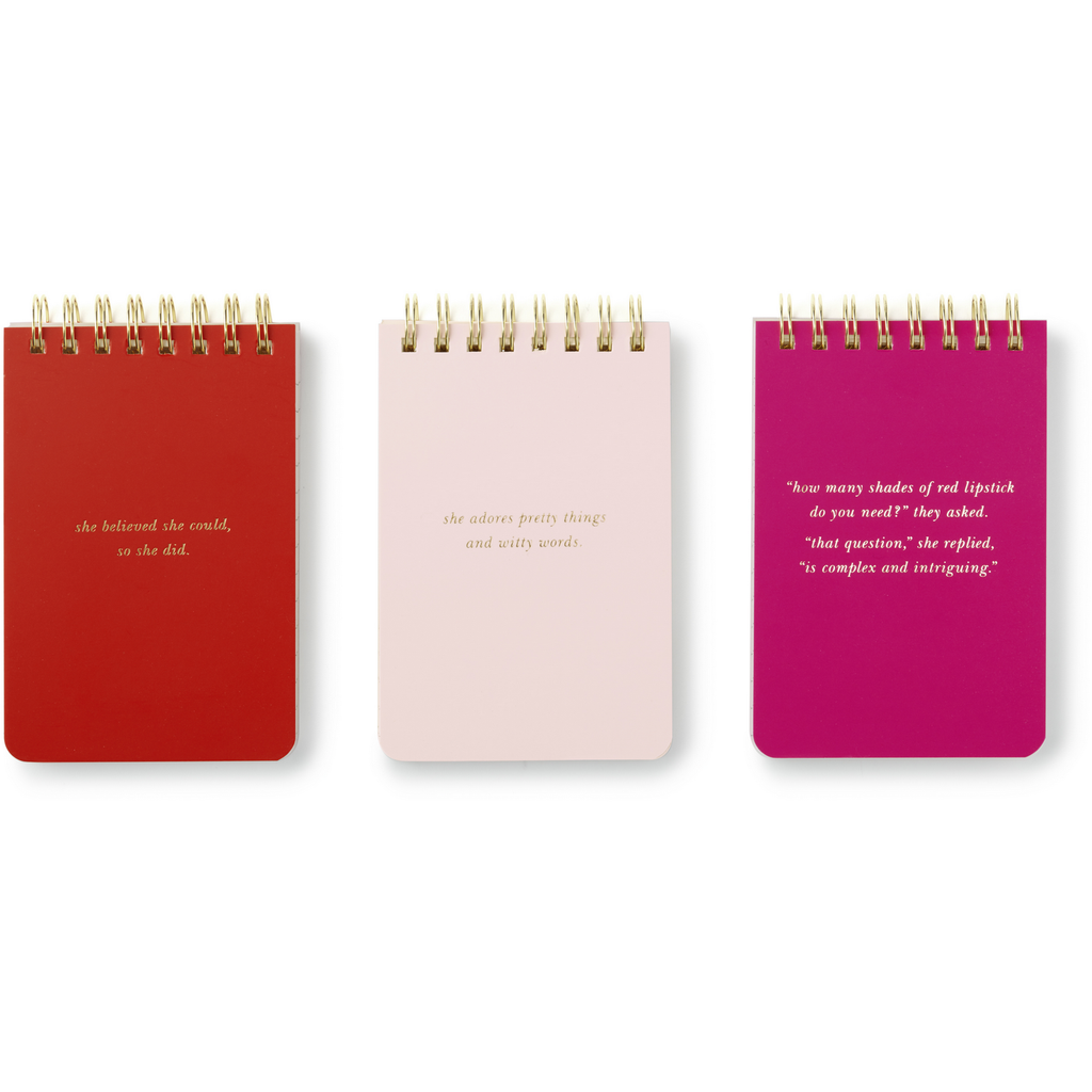 Kate Spade New York Spiral Notepad 3 Set Statements,Notebook, Kate Spade New York - Yum Yum Store
