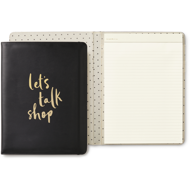 Kate Spade Notepad Folio Let's Talk Shop,Notebook, Kate Spade New York - Yum Yum Store