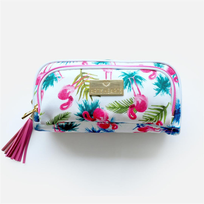 Arty Hearts Sydney Flamingo Palm Pencil Case / Storage Pouch,Pencil Case, Arty Hearts - Yum Yum Store