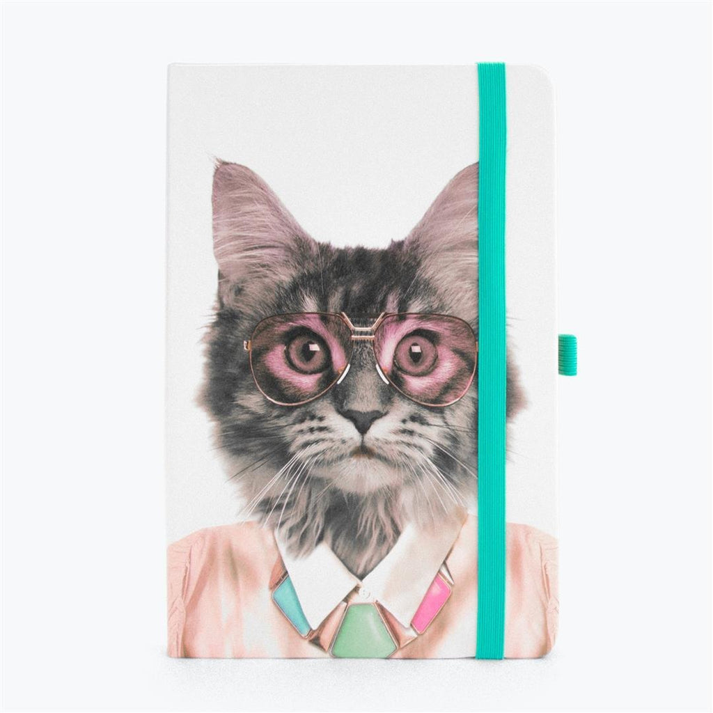Mustard Go Wild A5 Notebook - Cat,Notebook, Mustard - Yum Yum Store