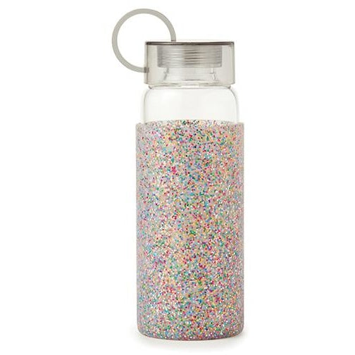 Kate Spade New York Glass Water Bottle Multi Glitter,Water Bottle, Kate Spade New York - Yum Yum Store