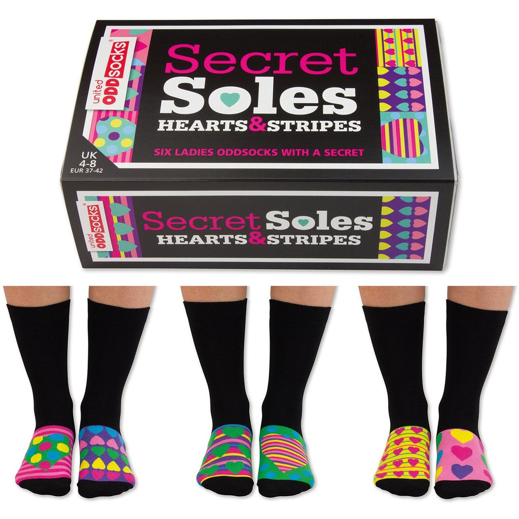 Odd Socks Ladies Secret Sole,Socks, United Odd Socks - Yum Yum Store