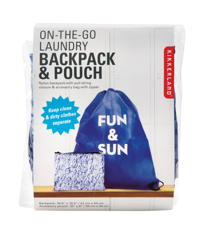 On the Go Backpack and Pouch Set Blue,Backpack, IS Gift - Yum Yum Store
