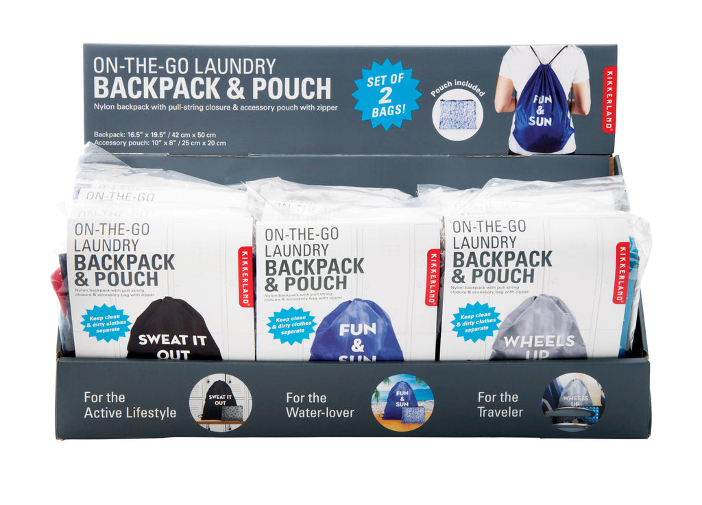 On the Go Backpack and Pouch Set Grey,Backpack, IS Gift - Yum Yum Store