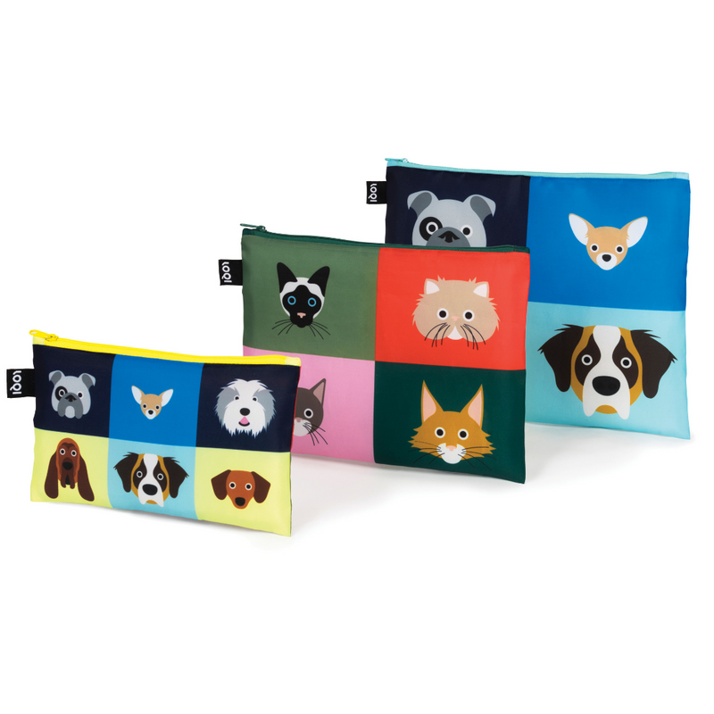 Loqi Zip Pocket (Set Of 3) Dogs and Cats