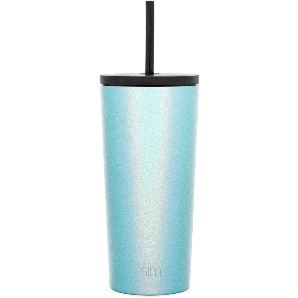 Simple Modern 590ml Classic Travel Mug & Tumbler with 2 Lids: Straw and Flip - Aqua Aura