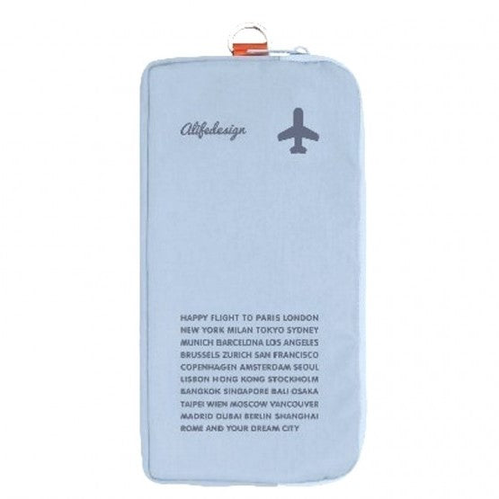 Alife Design Zip Travel Organiser Blue,Travel Wallet, Alife Design - Yum Yum Store