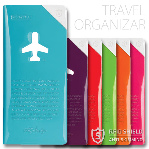 Alife Design Travel Organiser with RFID Shield Protection Green