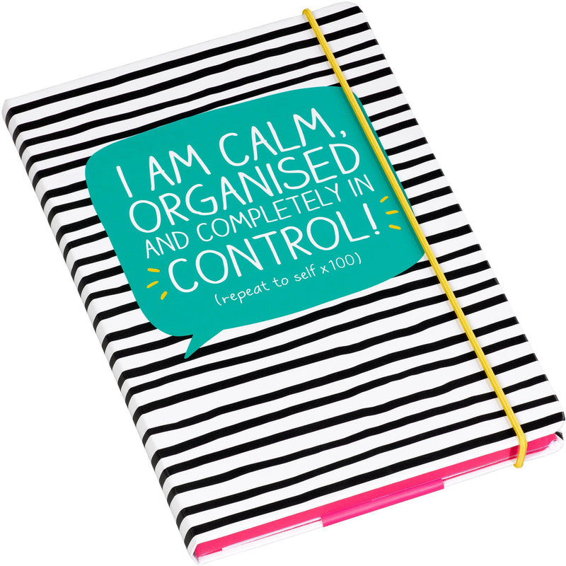 Happy Jackson I'm Calm Organised and in Control A5 Notebook,Notebook, Happy Jackson - Yum Yum Store