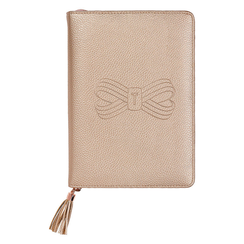 Ted Baker A5 Tassel Folio Rose Gold,Notebook, Ted Baker - Yum Yum Store