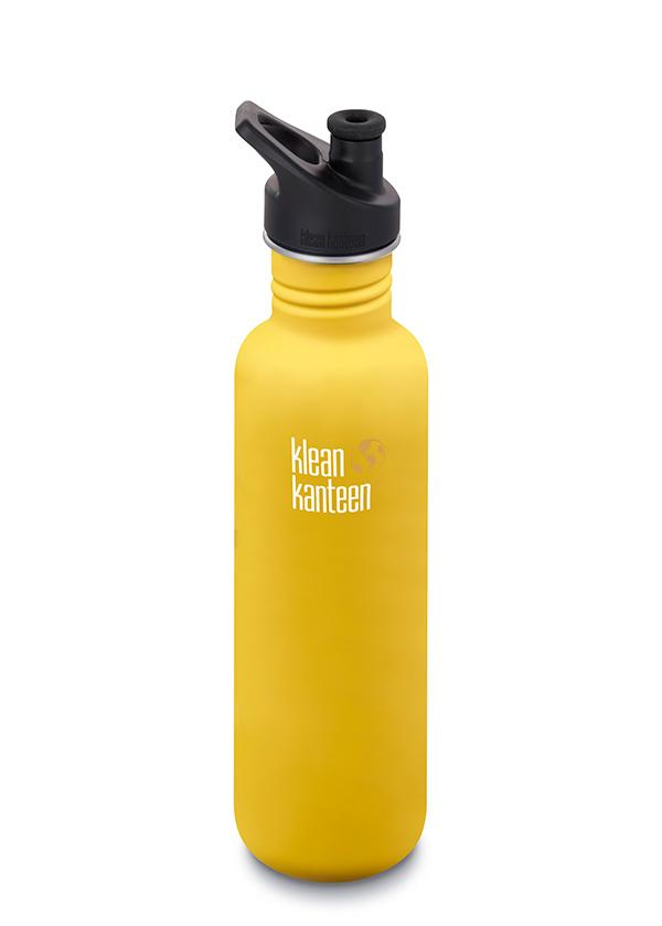 Klean Kanteen 27oz (800ml) Classic with Sports Cap 3.0 Lemon Curry