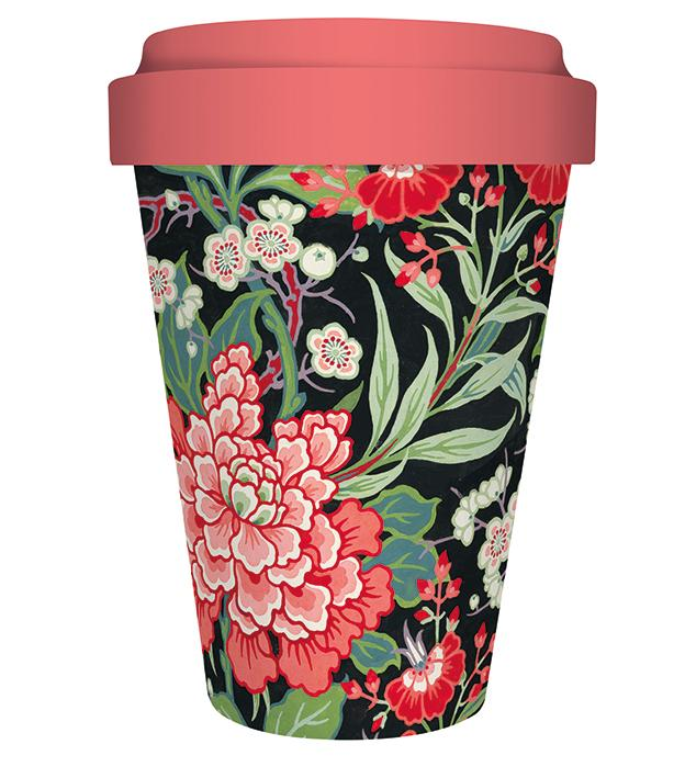 Museums & Galleries V&A Peony and Prunus Bamboo Travel Cup 450ml