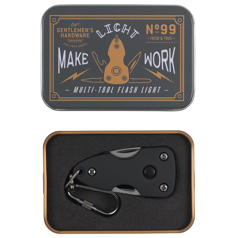 Gentlemens Hardware Pocket Multitool with Flash Light,Gadget Gift, Gentlemans Hardware - Yum Yum Store