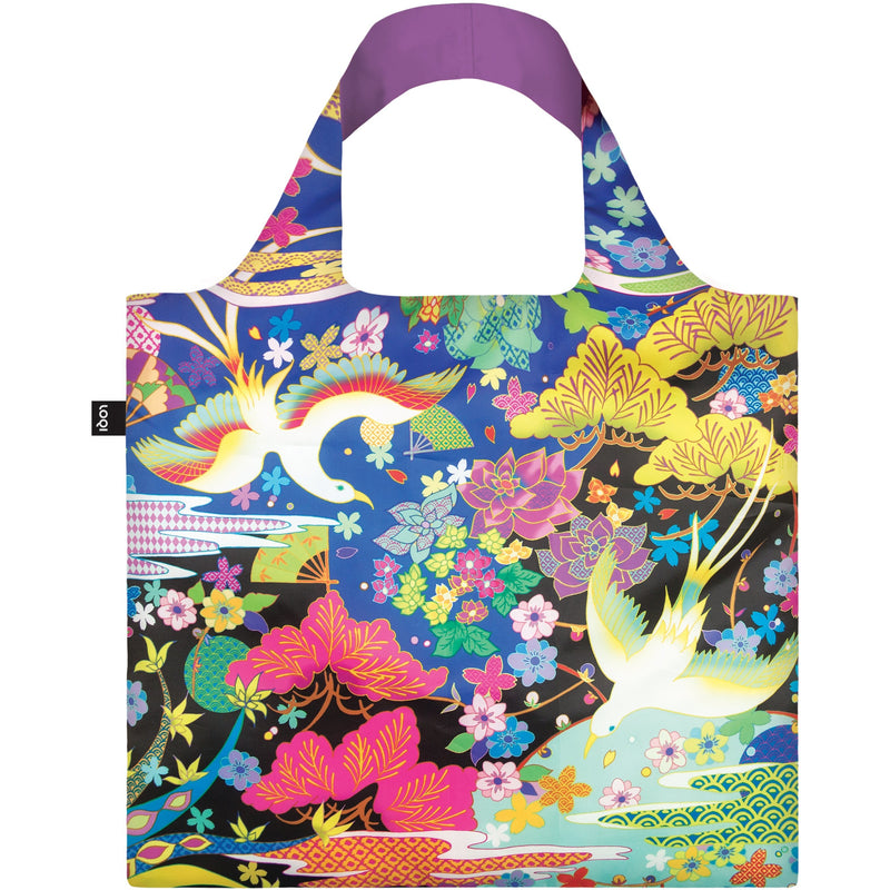 Loqi Reusable Shopping Bag Shinpei Naito Collection - Dancing Birds,Reusable Shopping Bag, Loqi - Yum Yum Store