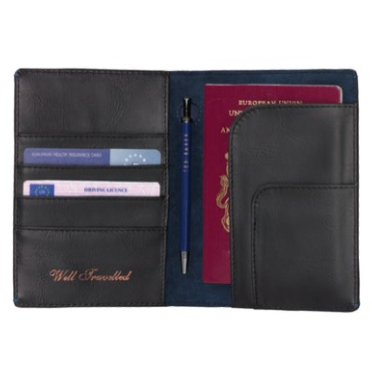 Ted Baker Black Travel Wallet & Pen,Travel Wallet, Ted Baker - Yum Yum Store