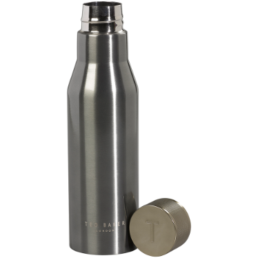 Ted Baker Insulated Water Bottle - Gunmetal Knurled Lid,Water Bottle, Ted Baker - Yum Yum Store