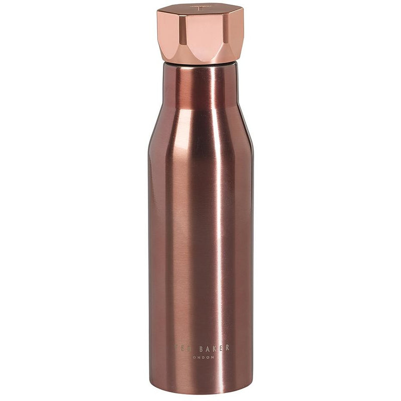 Ted Baker Water Bottle - Rose Gold Hexagonal Lid,Water Bottle, Ted Baker - Yum Yum Store