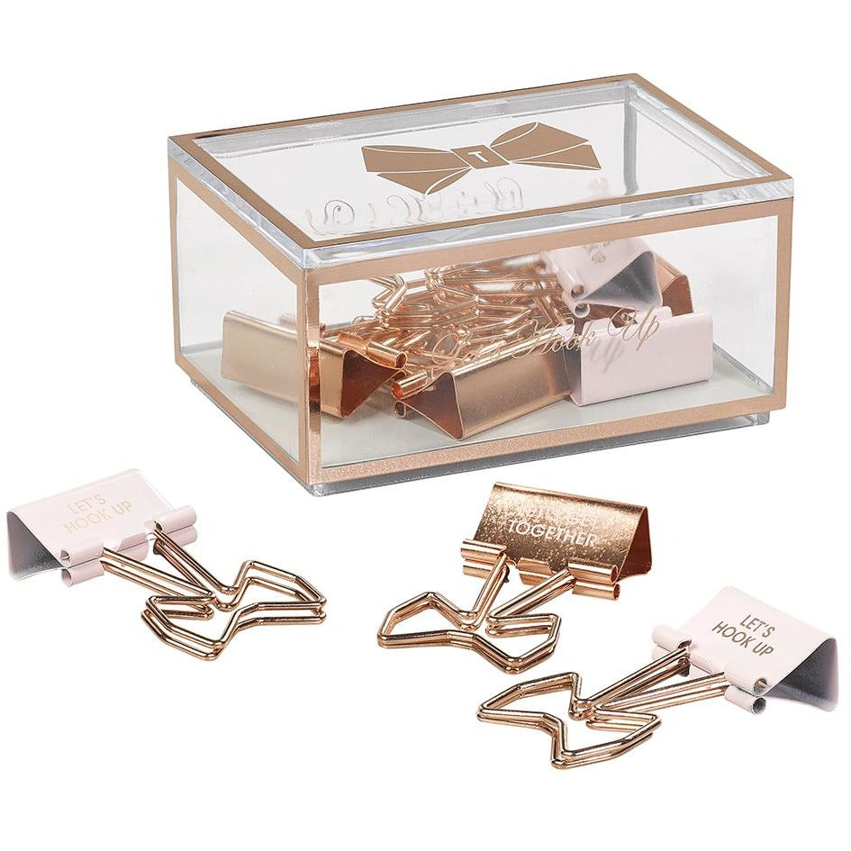 Ted Baker Let's Hook Up Binder Clips,Binder Clips, Ted Baker - Yum Yum Store