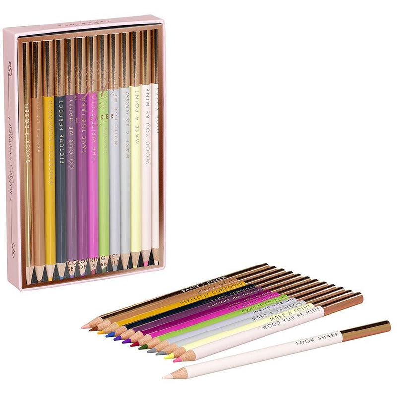 Ted Baker - Bakers Dozen Colouring Pencils,Pencils, Ted Baker - Yum Yum Store