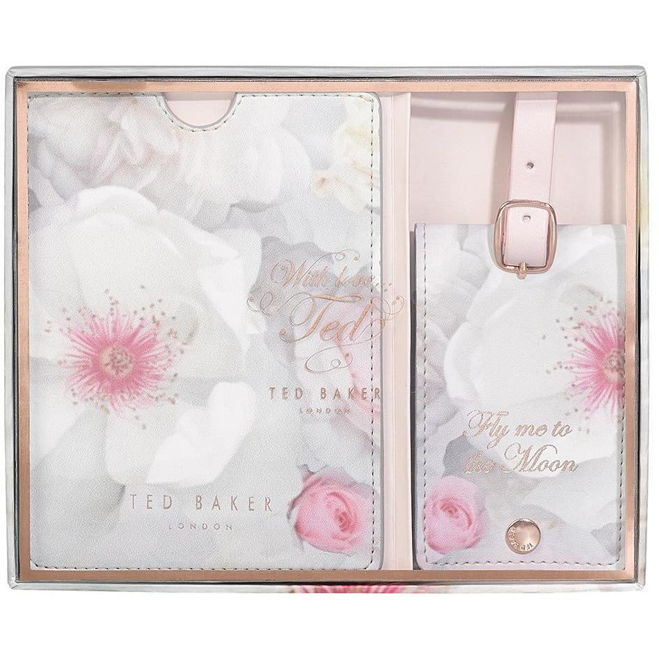 Ted Baker Luggage Tag and Passport Set Chelsea Border,Travel Document Holder, Ted Baker - Yum Yum Store