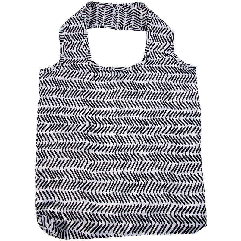 IS Gift Foldable Shopper Monochrome Lines,Reusable Shopping Bag, IS Gift - Yum Yum Store