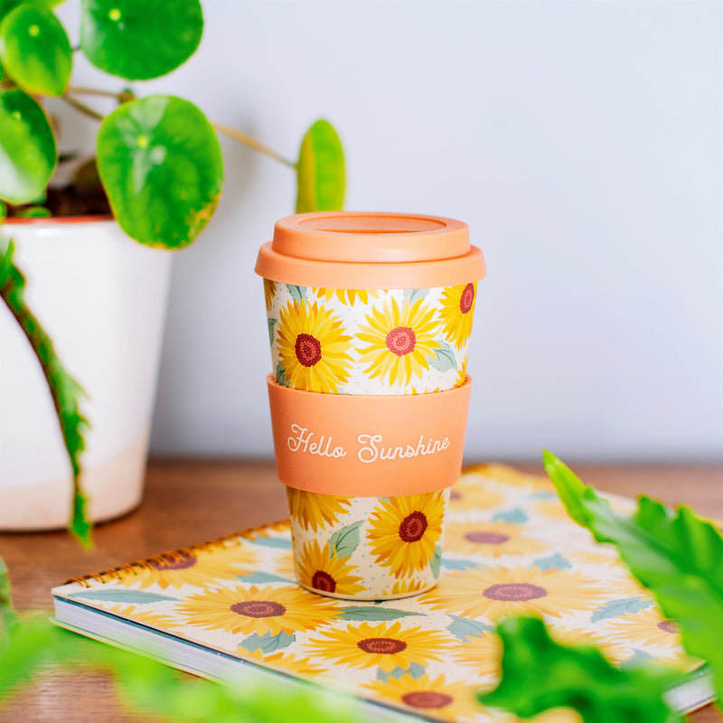 Sass & Belle Sunflowers Bamboo Coffee Cup