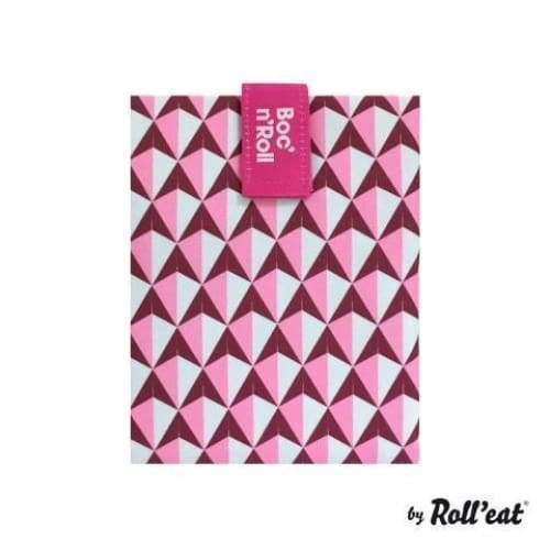 Boc'n'Roll Lunch Wrap Pattern Pink,Reusable Snack Bag, Rolleat - Yum Yum Store