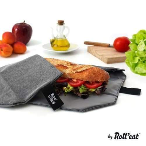 Boc'n'Roll Lunch Wrap Plain Pink,Reusable Snack Bag, Rolleat - Yum Yum Store